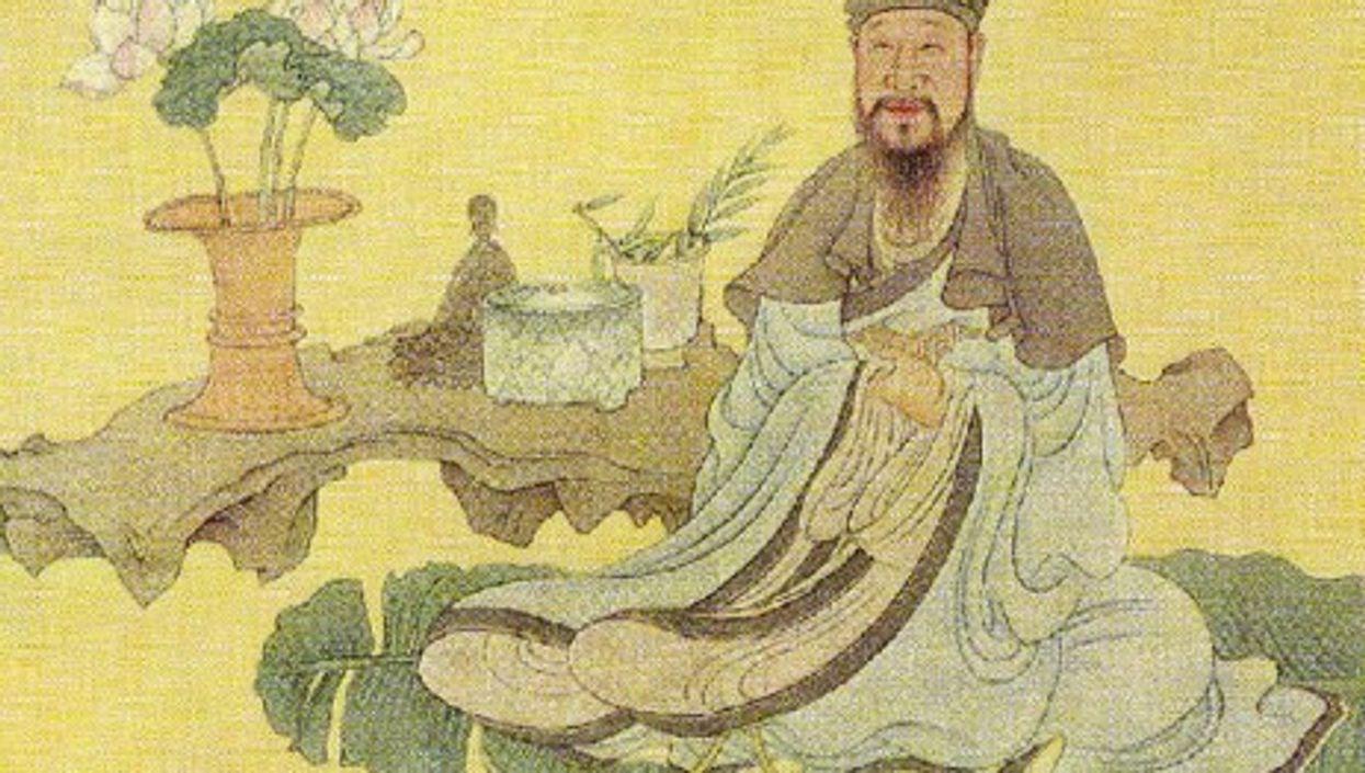 17th century portrait of Chinese poet Bai Juyi