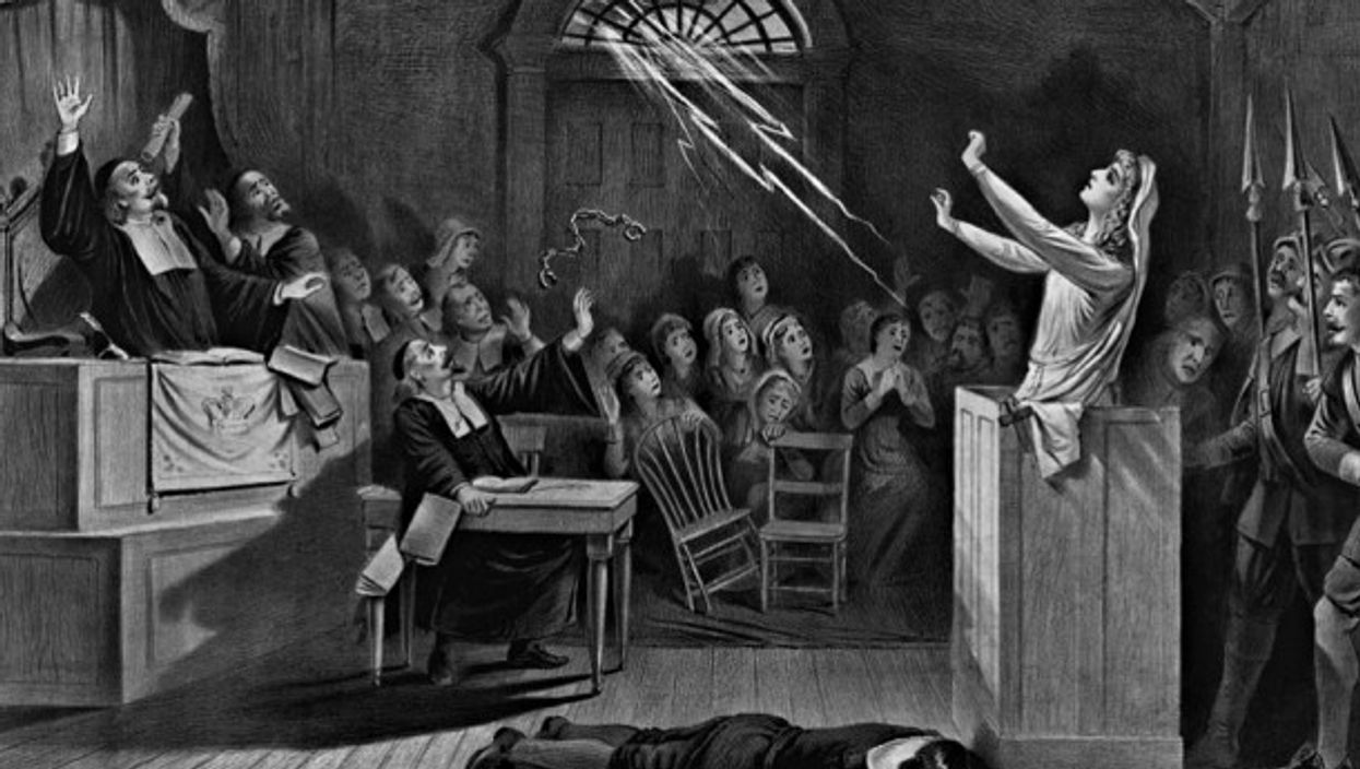 1892 depiction of the Salem witch trials
