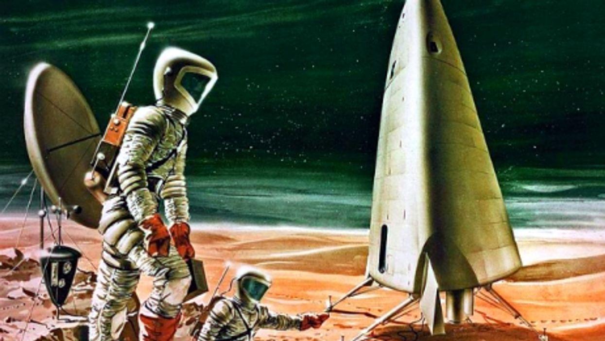 1964 artist's impression of a manned Mars mission