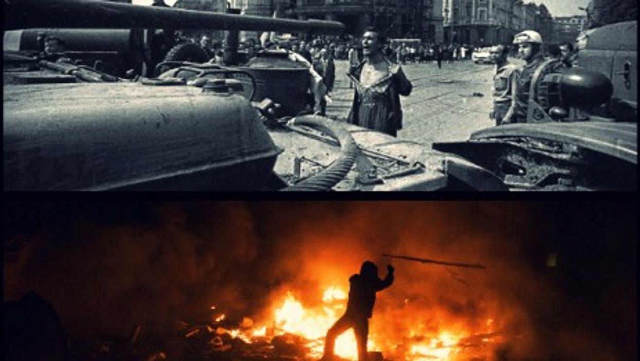 1968 Bratislava (top) vs. 2014 Kiev (bottom)