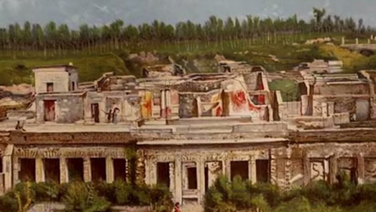 3D digital view of Pompeii