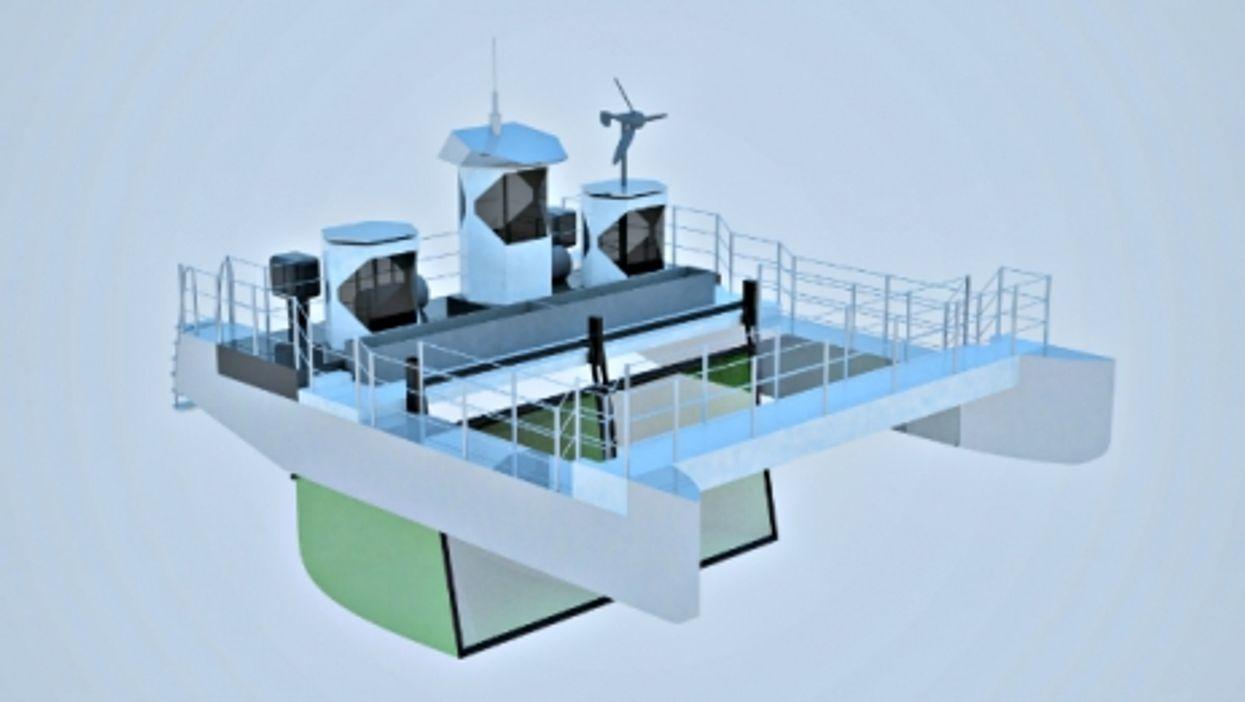 3D rendering of the plastic-eating ship Seekuh