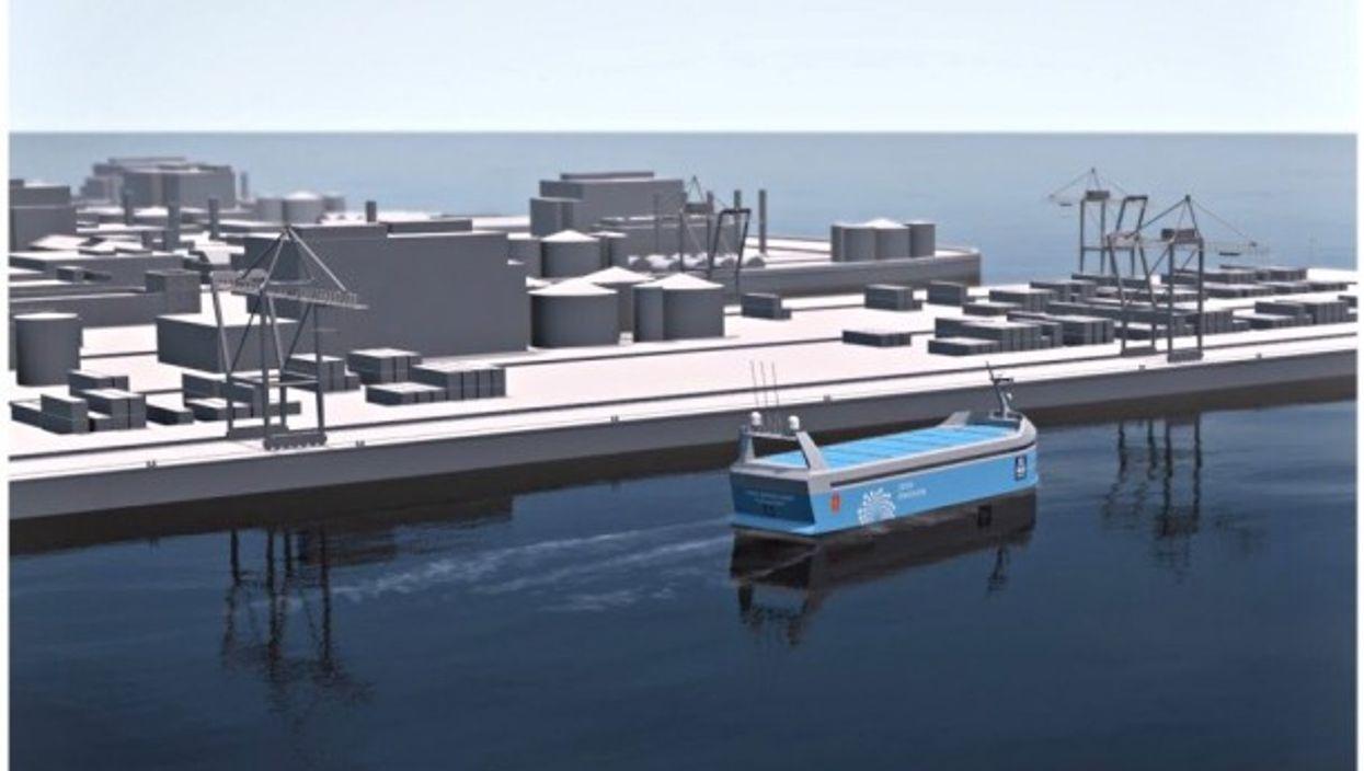 3D rendering of the Yara Birkeland