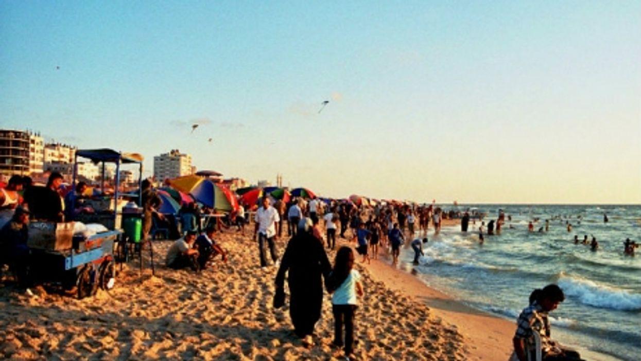 A beach in Gaza