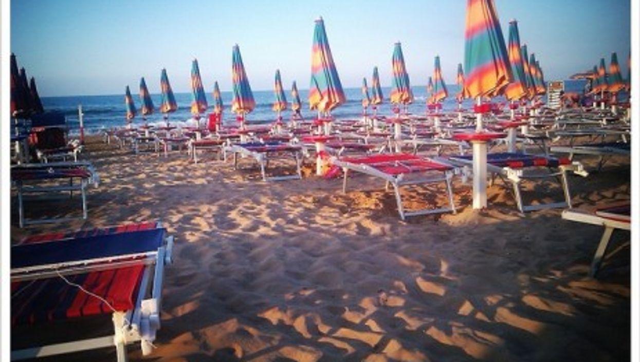 A beach near Vieste, Italy
