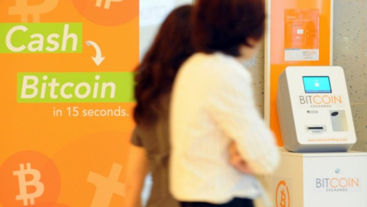 A Bitcoin ATM in Singapore