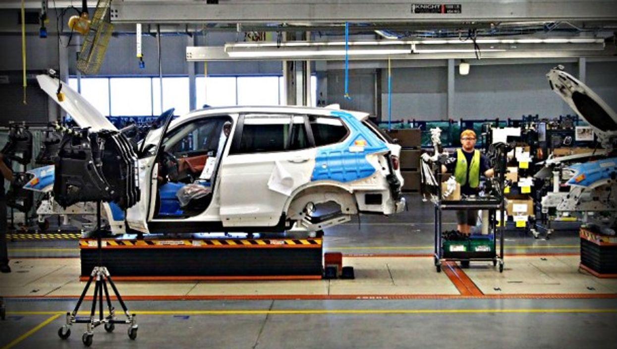 A BMW plant in Spartanburg, U.S.A.