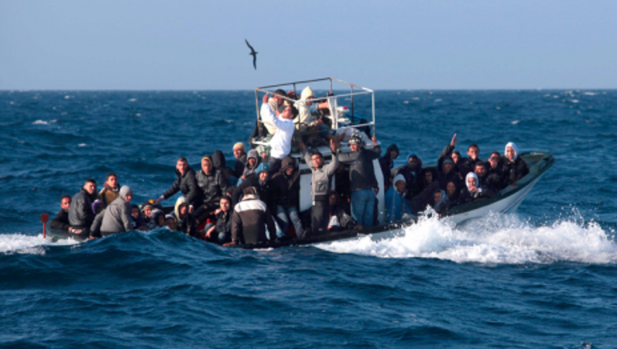 A boat arriving in waters off Lampedusa on Sept. 7