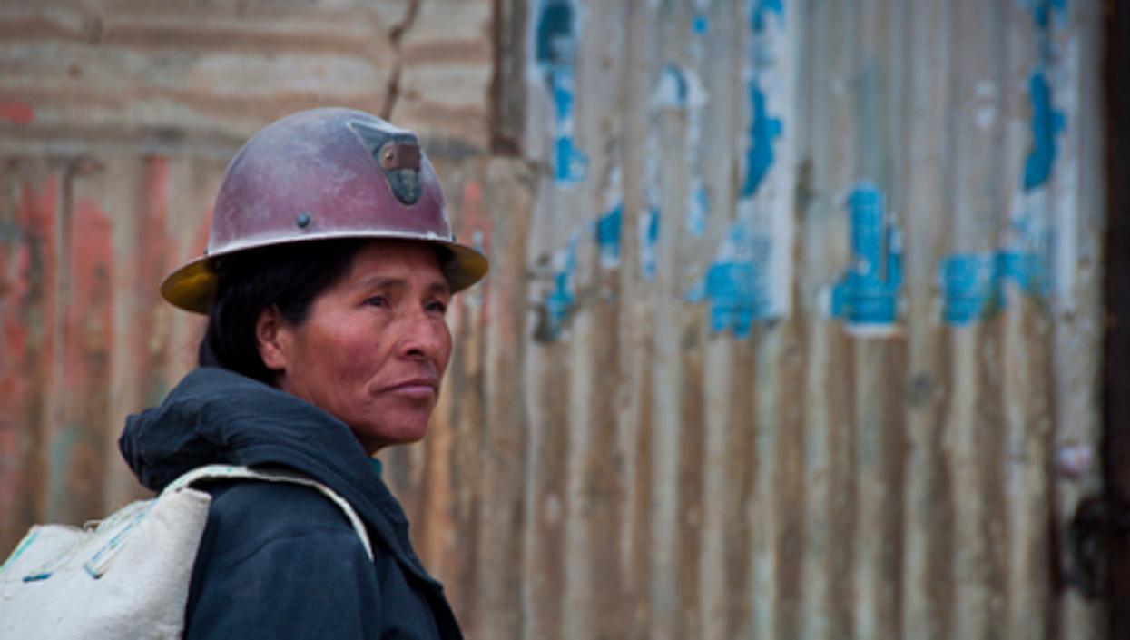 A Bolivian miner (Viaje al corazón de Bolivia)