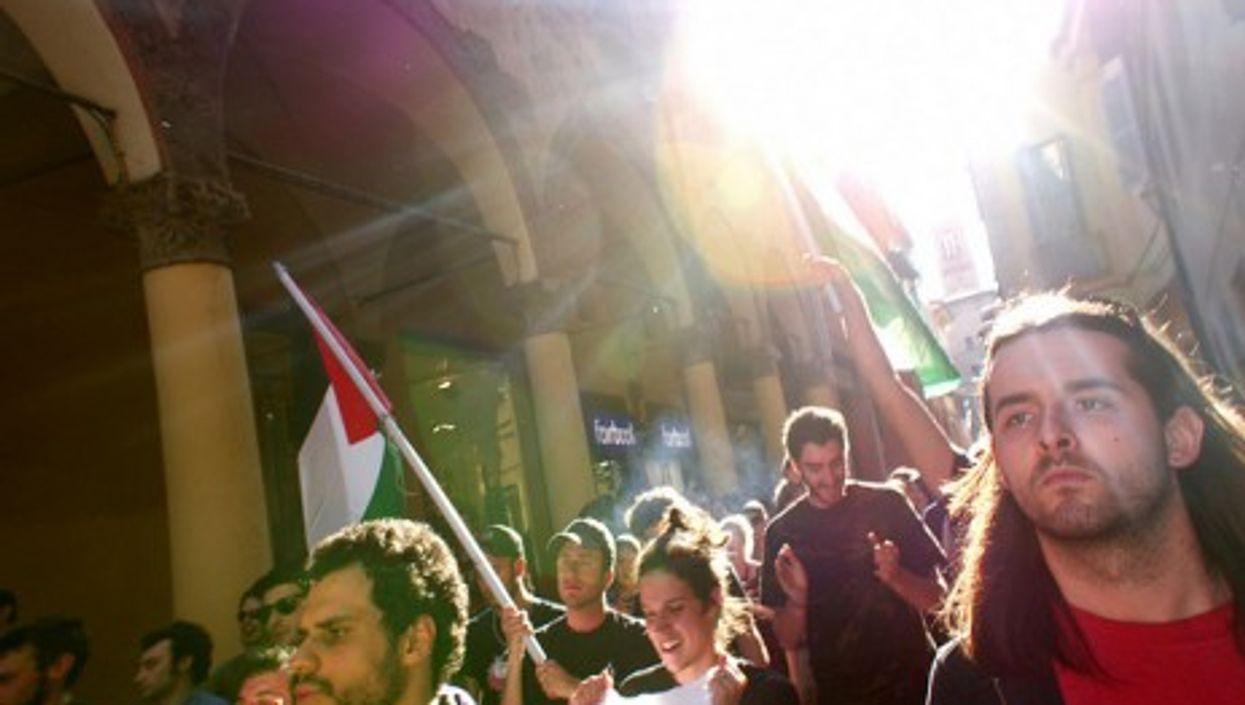 A Bologna rally last year against Israeli's assault on pro-Palestinian flottila (Valerio Pirrera)