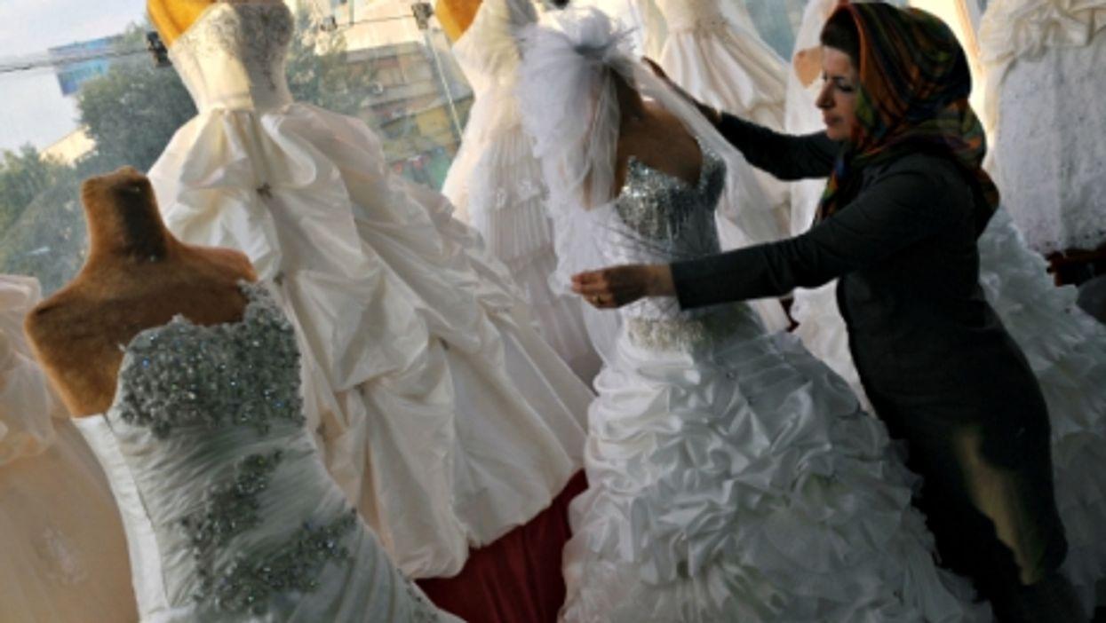 A bridal shop in Tehran