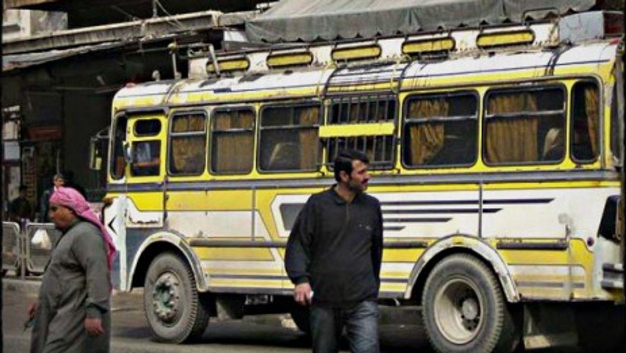 A bus in Aleppo