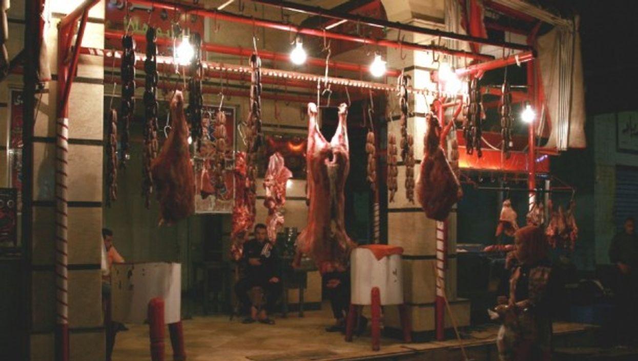 A butcher in Port Said, Egypt