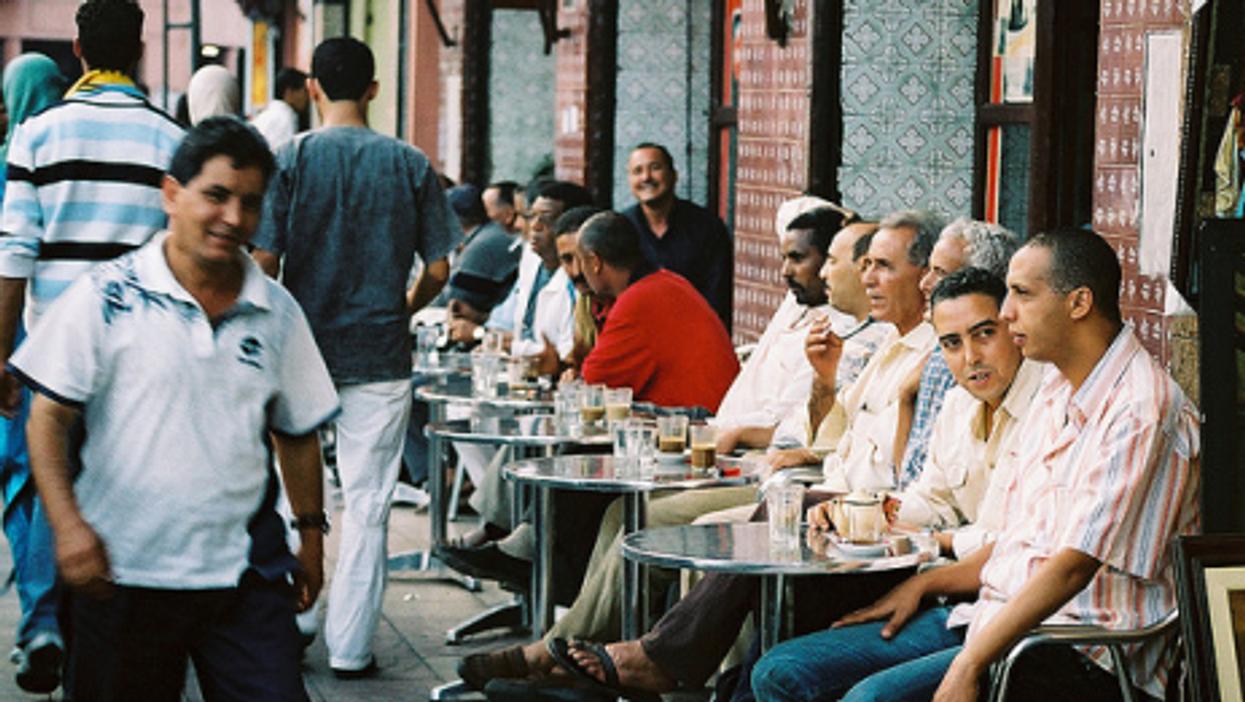 A cafe in Marrakech, Morocco