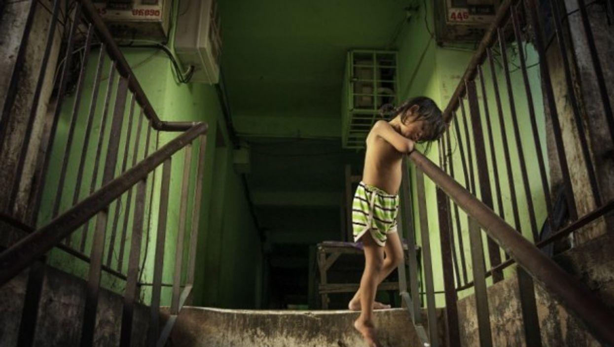 A Cambodian child in Phnom Penh