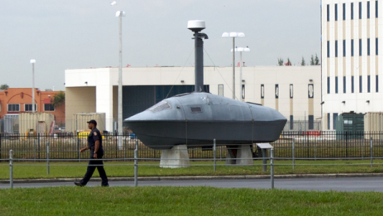 A captured cartel submarine in US custody (Todd Huffman)
