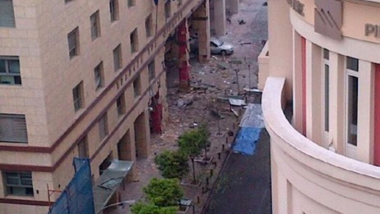 A car bomb exploded just outside the Greek Central Bank in Athens Thursday morning