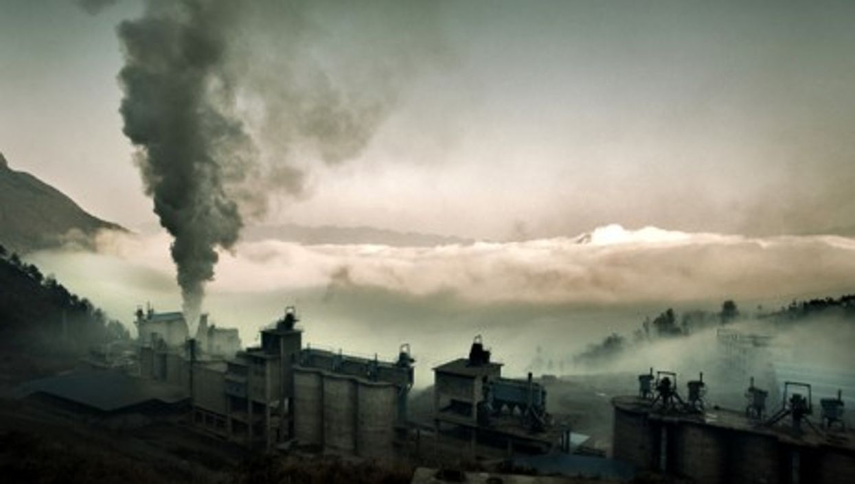 A cement factory in Chongqing, China