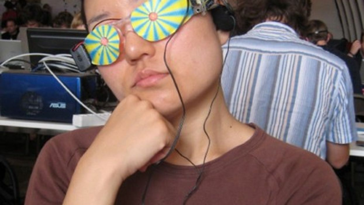 A Chaos Communication Camp participant in 2007