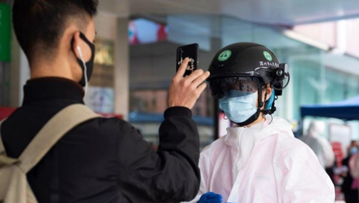 A Chinese company launched smart helmets at the end of April