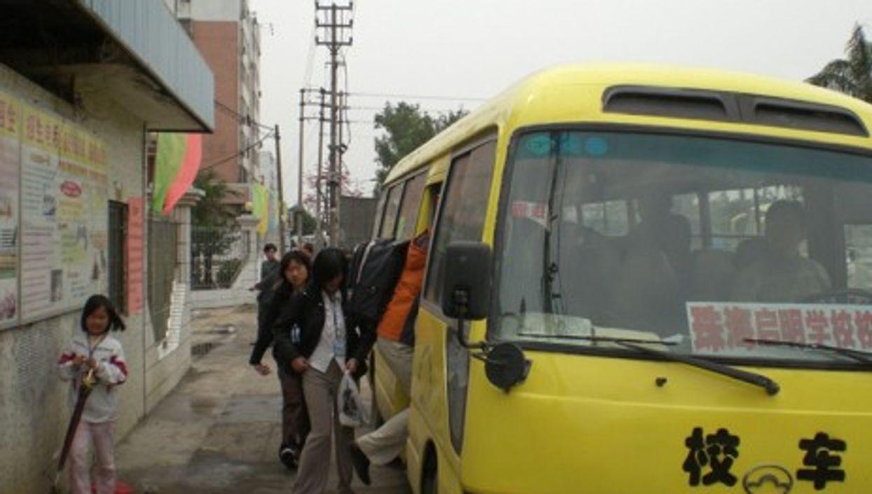 A Chinese school bus (jaaron)