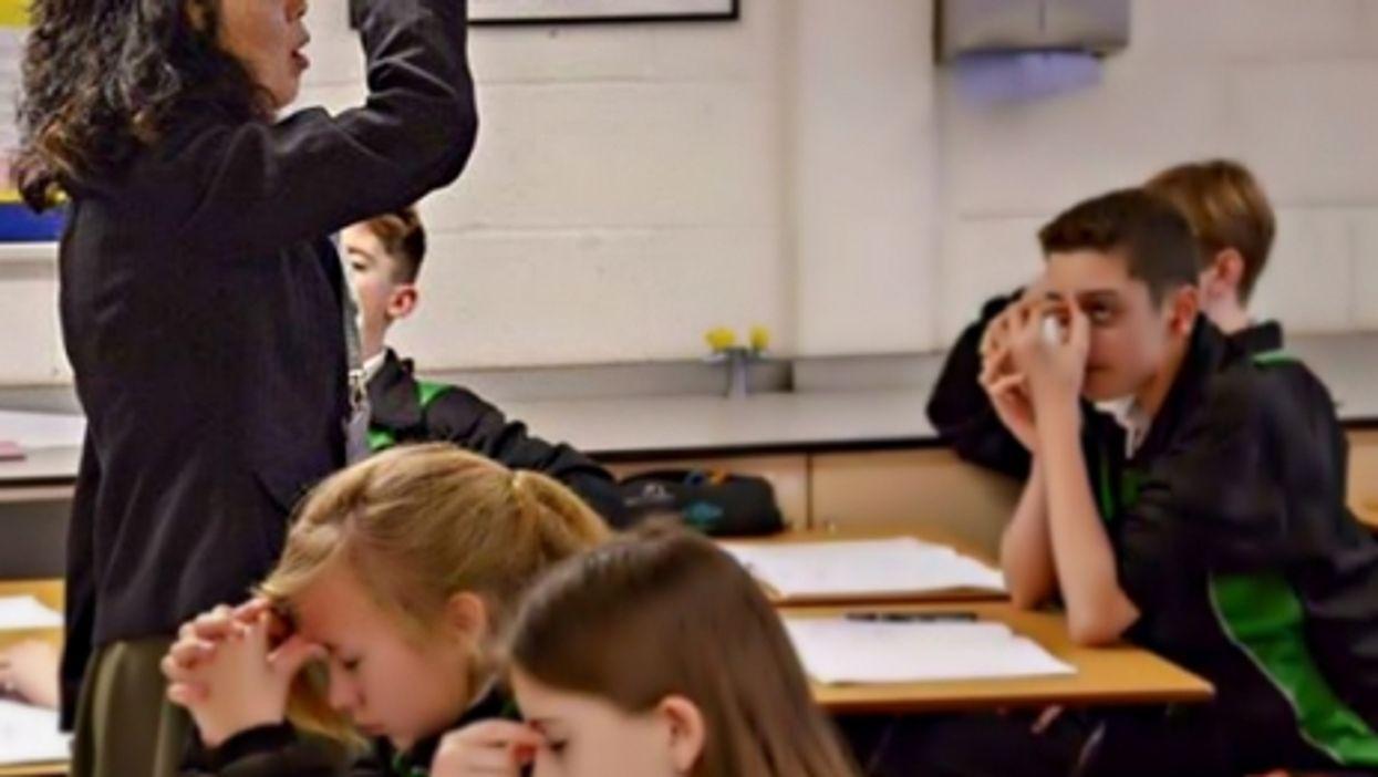A Chinese teacher at Bohunt School, Hampshire, UK
