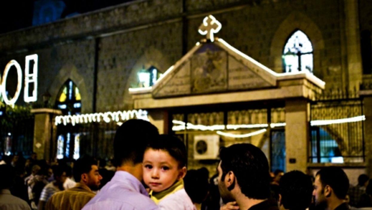 A Christian neighborhood in Homs, Syria