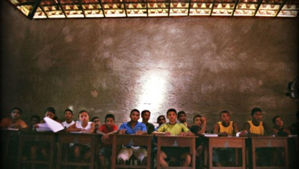 A classroom in Sao Manoel, Maranhao, Brazil