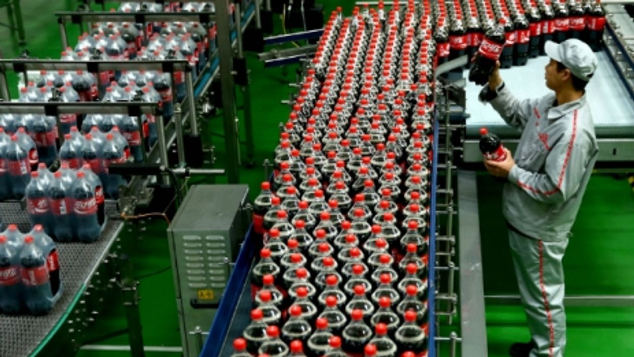 A Coca-Cola bottling plant in Shijiazhuang, northern China
