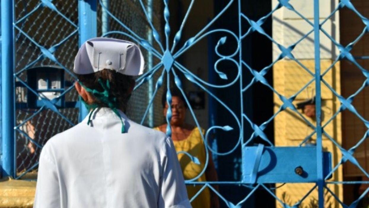 A community doctor in Havana, Cuba