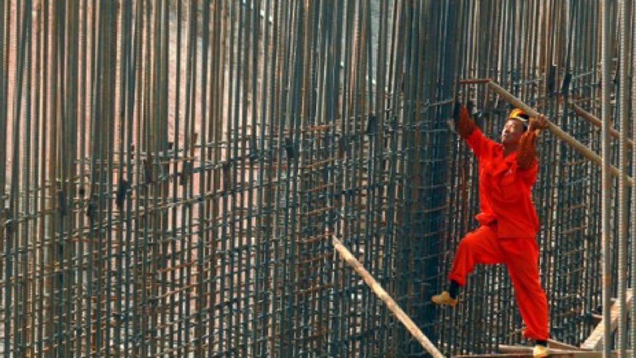 A construction worker in Shenzen, Guangdong Province