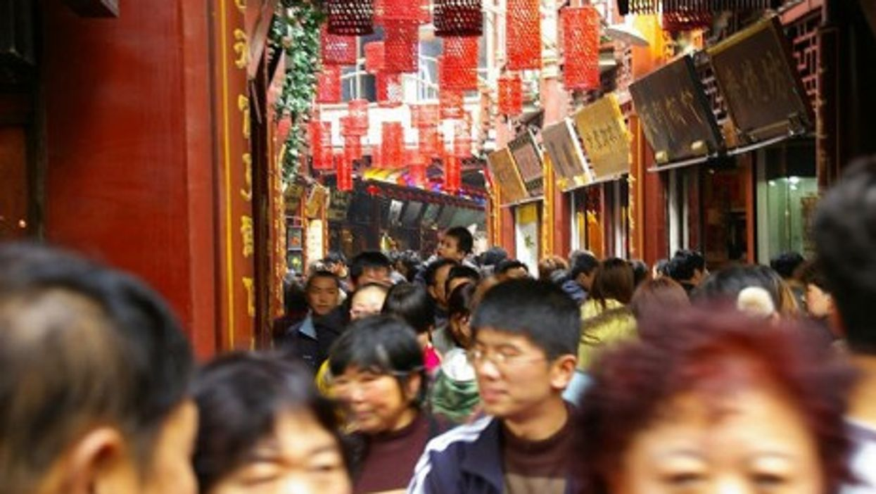 A crowded Shanghai