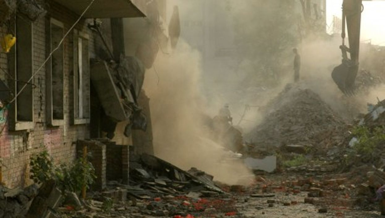 A demolition site in China (Sam Sherratt)