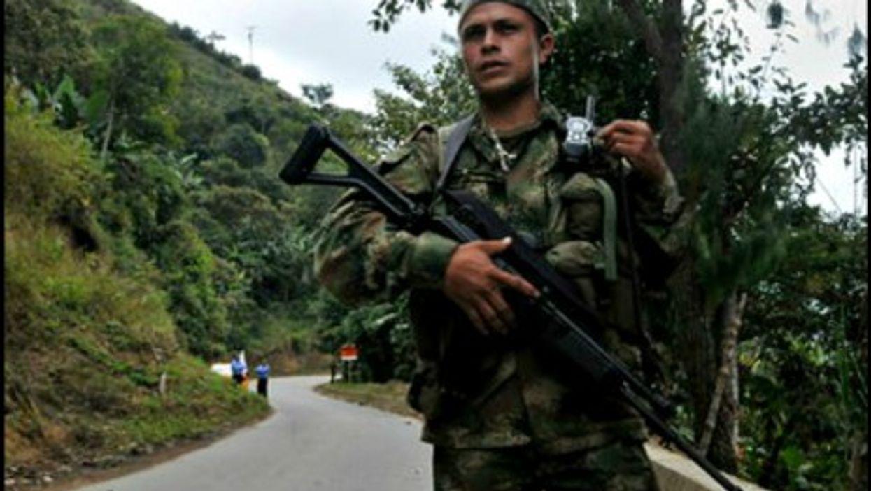 A FARC fighter in Toribio, Colombia