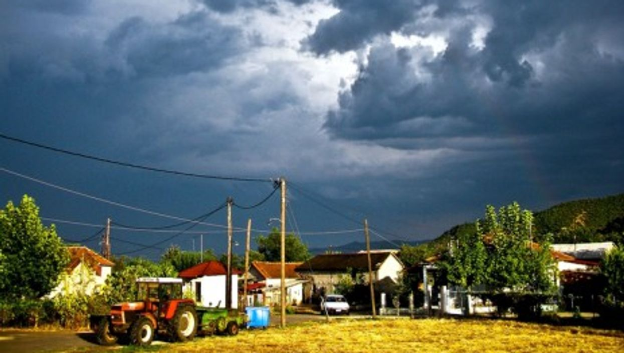 A farm in Paleomonastiro, Greece