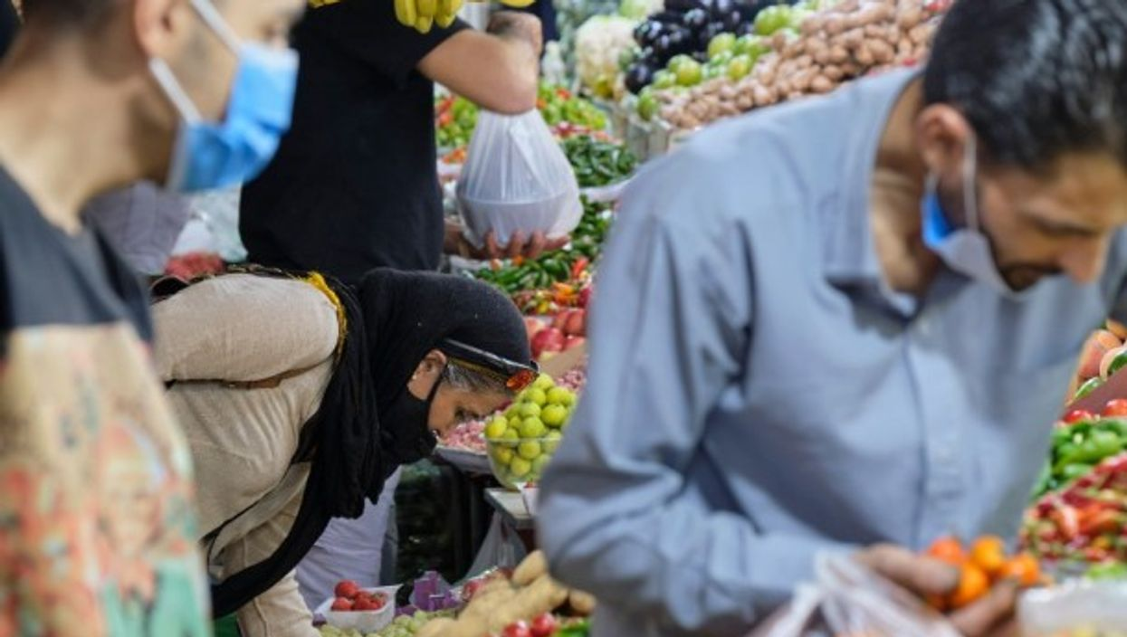 A farmer's market in Tehran