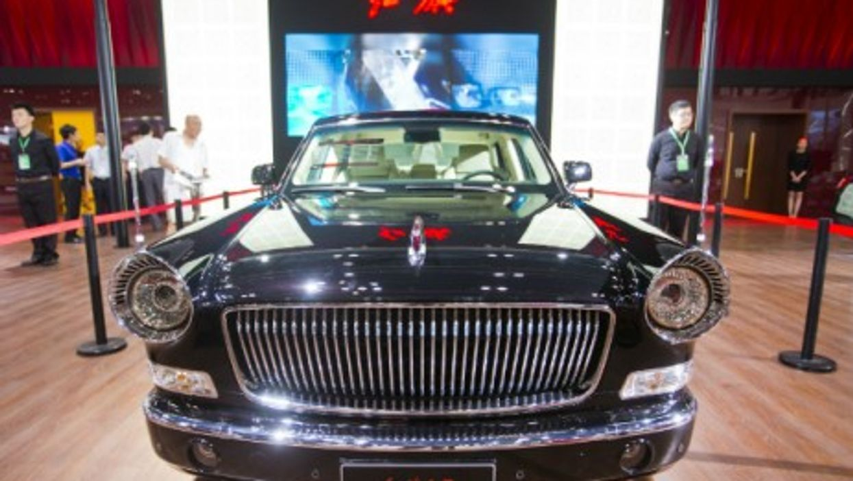 a FAW-Hongqi L5 car at the China Self-innovated Auto Expo in Beijing in 2013