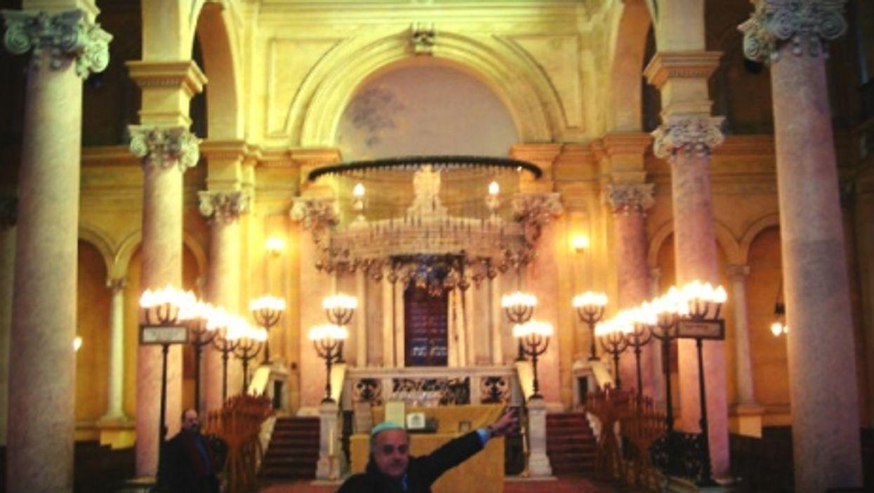 A file photo inside Eliahu Hanavi synagogue in Alexandria