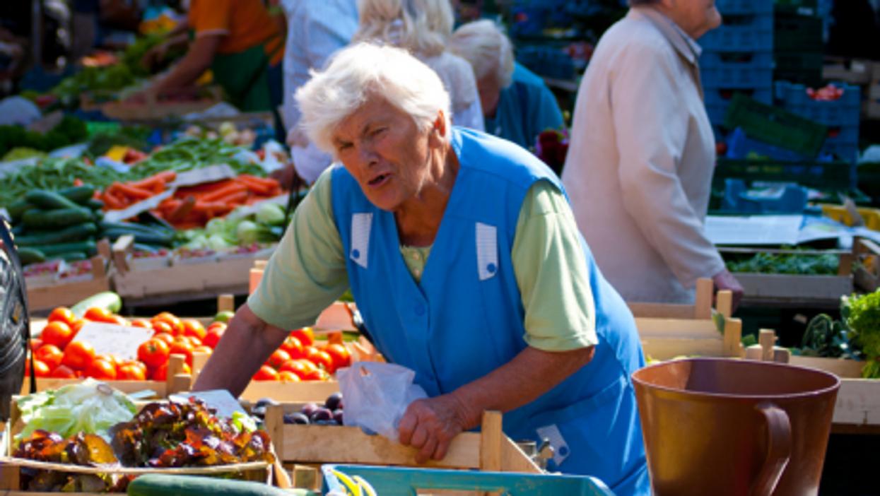 A file photo of a produce market in Freiburg, Germany (Lendog)