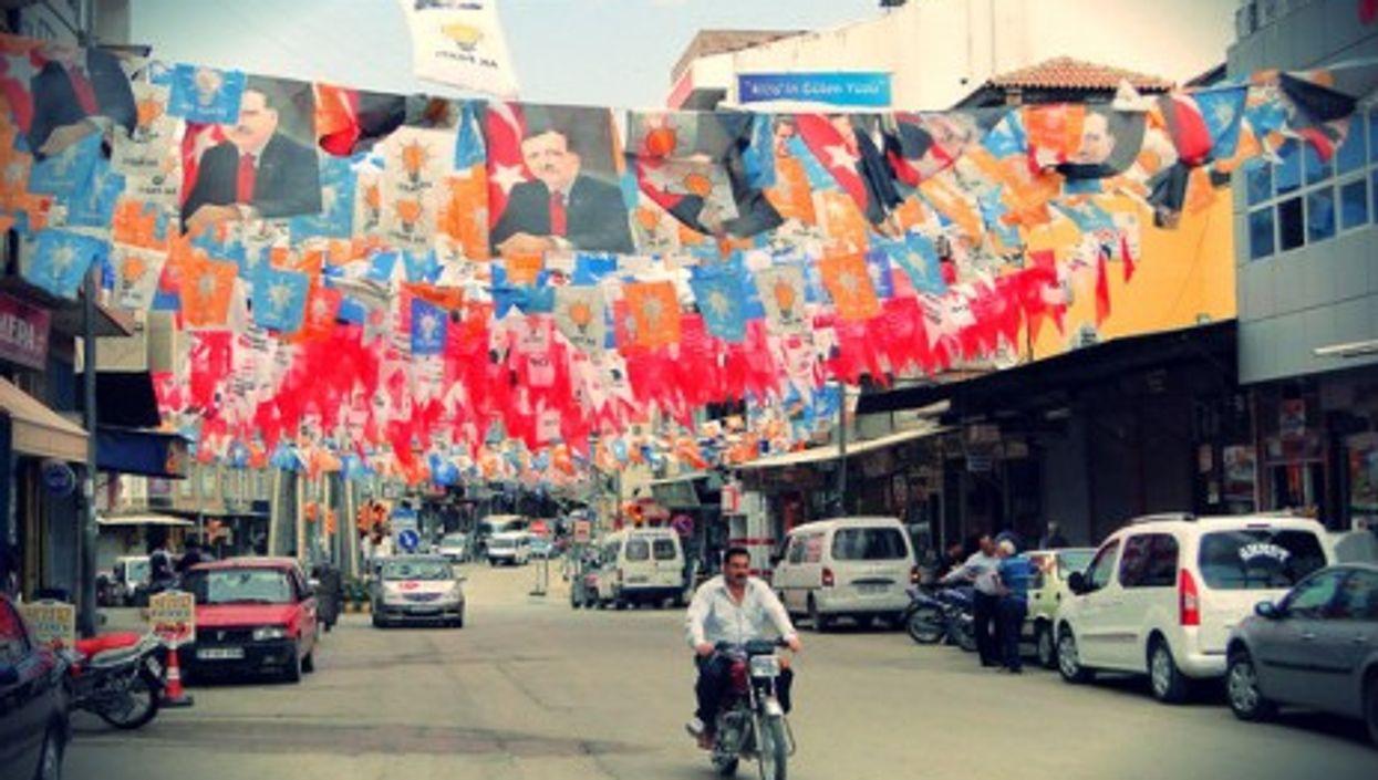 A file photo of Kilis, Turkey, near the border with Syria