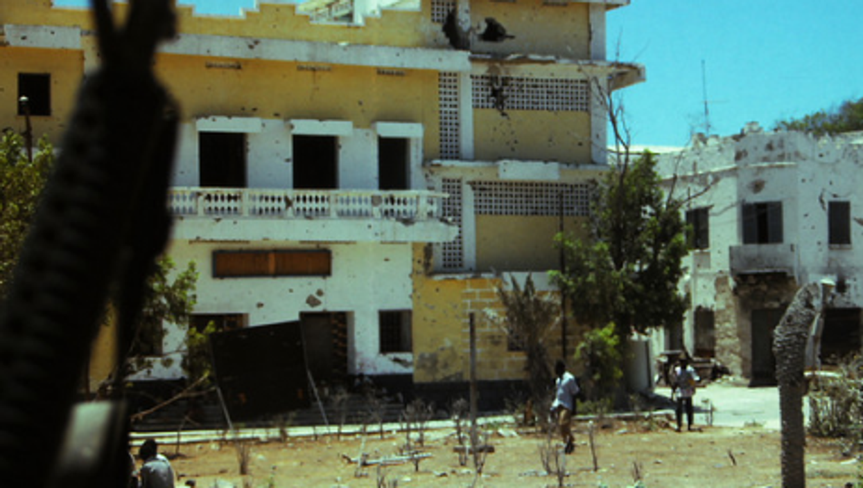 A file photo of the eternally war-torn Somali capital