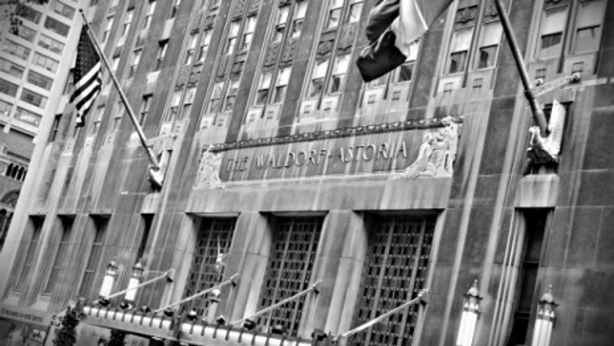 A file photo of the legendary Waldorf-Astoria
