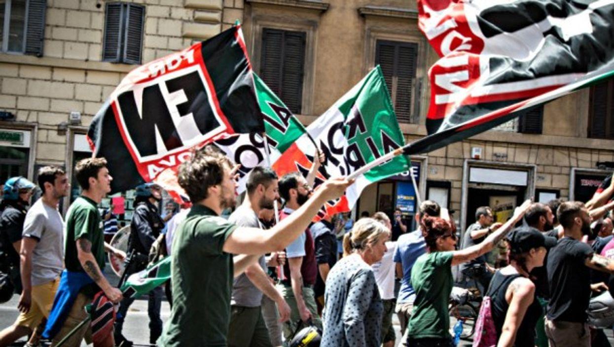 A Forza Nuova rally in Rome in June
