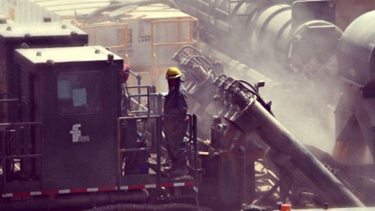 A fracking operation near Carrizo Springs, Texas