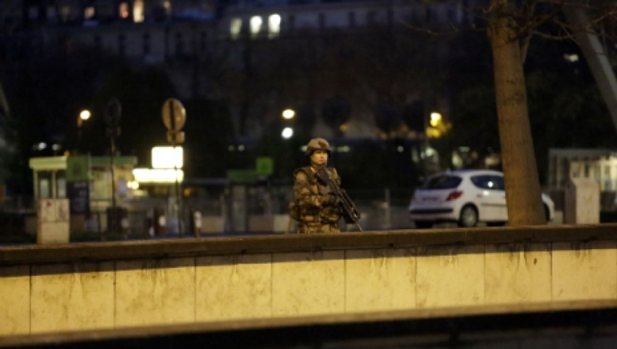 A French soldier near the Eiffel Tower, in Paris, on Nov. 17, 2015.