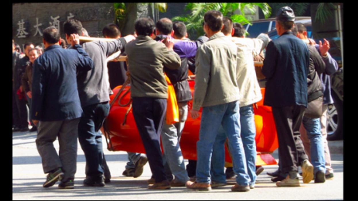 A funeral in Guangzhou