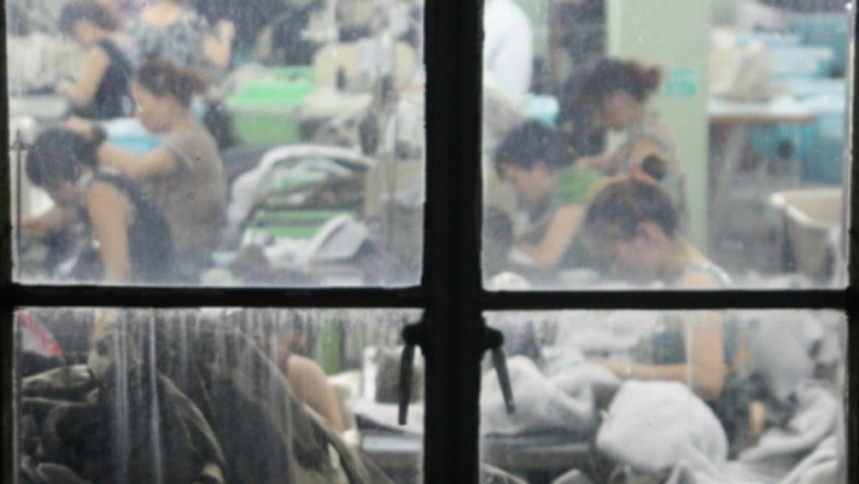 A garment factory in Jiaxing