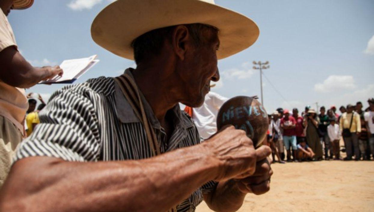 A gathering of the Wayuu tribe.
