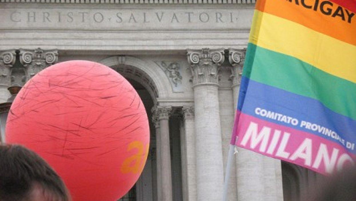 A gay rights rally in Milan (David Saltuari)