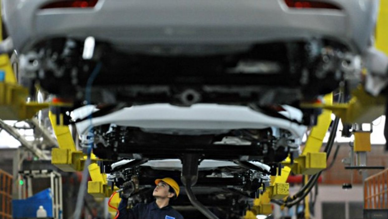 A Geely auto assembly line in China